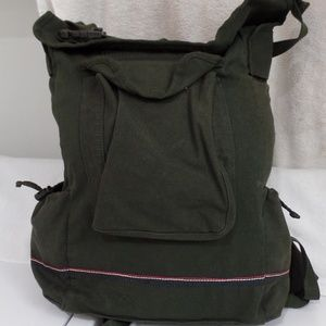 Tommy Hilfiger Canvas Backpack Green Rucksack